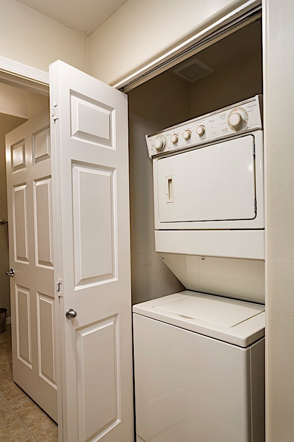 Washer and dryer in condo