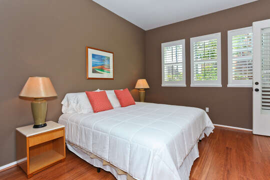 The Master bedroom with Access to the Lanai