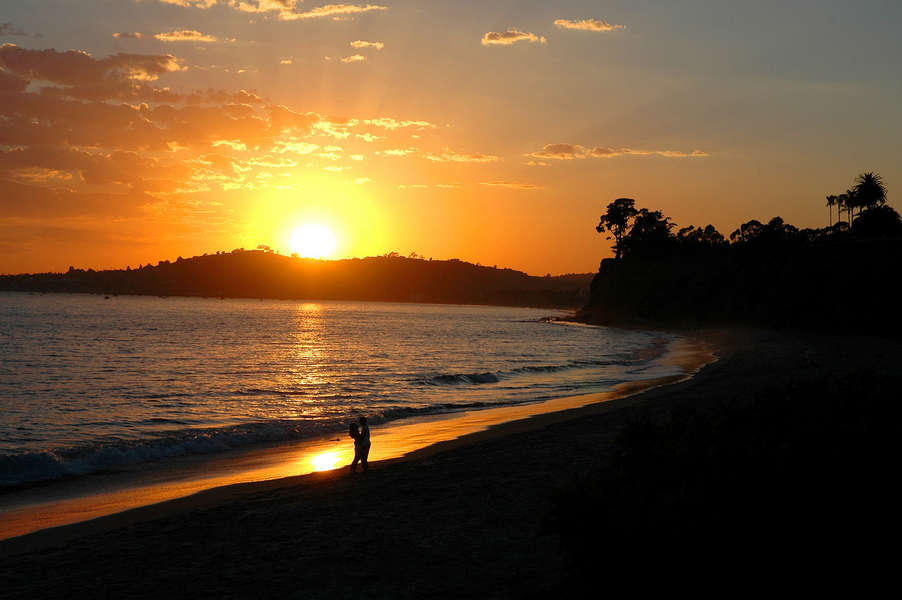 Sunset at Butterfly Beach