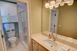 Second floor king bedroom Full bath with walk-in shower