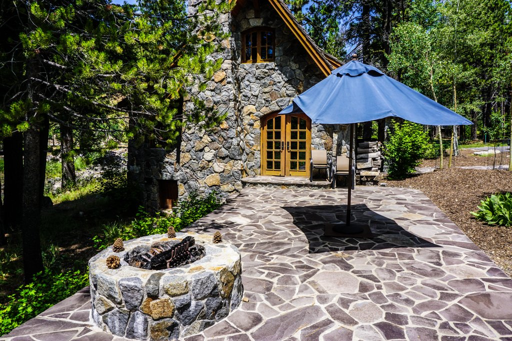 Side of Home with Fire Pit
