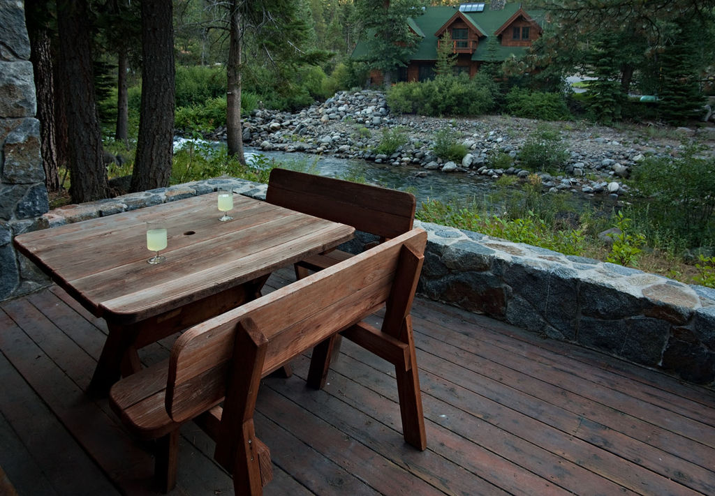 Outside Dining with River Views