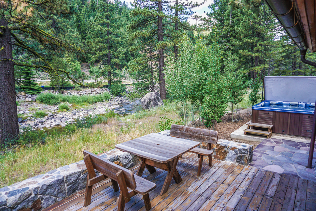 Back Deck with Hot Tub and River Views