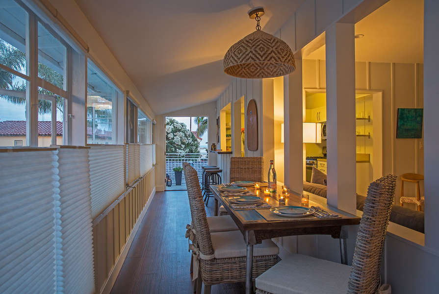 At night, dimmers add romantic ambiance