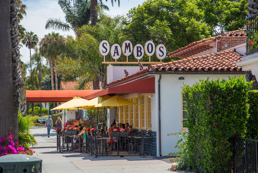 The original Sambo's is just behind The Lookout and on the beach