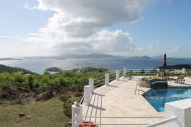 View of pool from C villa with amazing views