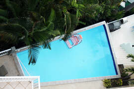 Community pool view from above