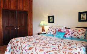Well appointed bedroom furnishings