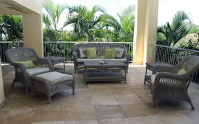 Lounge area in shade with mountain breezes