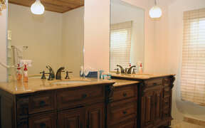 Large double vanities in bathrooms