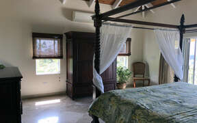 Luxurious Bedroom with vaulted ceiling