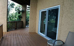 Shaded deck area