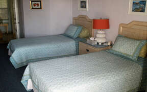 Double beds in large room