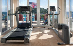 Work out room with a view of Great Cruz Bay