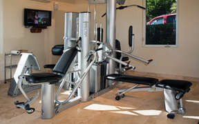Work out room in the villa
