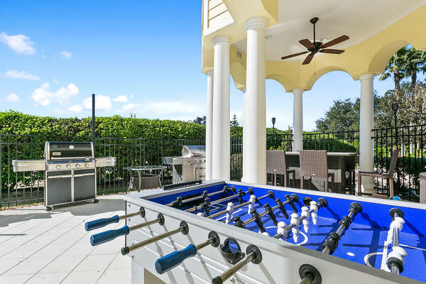 Endless outdoor fun, Table Tennis, Foosball and Pool basketball.