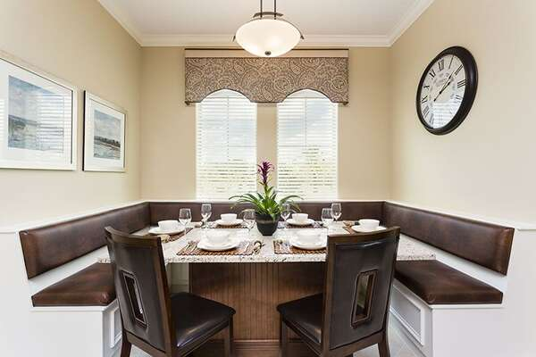 Cozy Dining Nook with Bench Seating