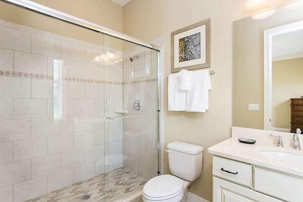 En Suite Bathroom with Large Walk In Shower