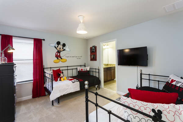 Fun Mickey themed room for the smaller kids