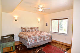 The second master suite features a large