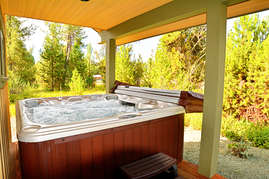 Unwind in the hot tub on the lanai.