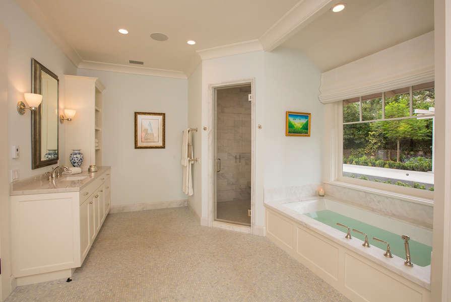 Master Bathroom with steam shower