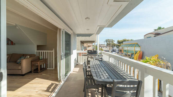 Second Floor Patio with outdoor dining