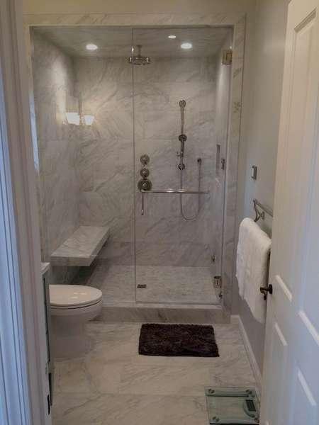 Poolhouse Bathroom w/ beautiful walk-in shower
