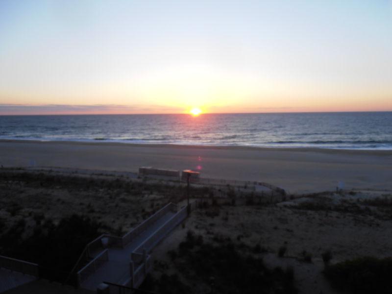 Sunrise from the balcony.