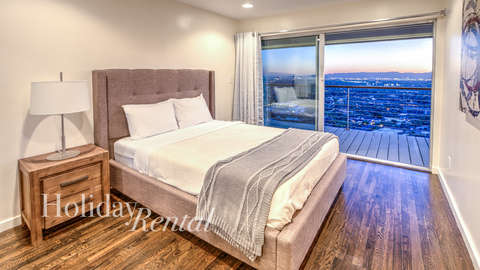 Bedroom 3 Queen with views of Phoenix city lights