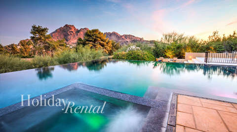 Infinity pool and hot tub with unobstructed mountain views!
