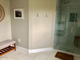 Master shower and changing area.