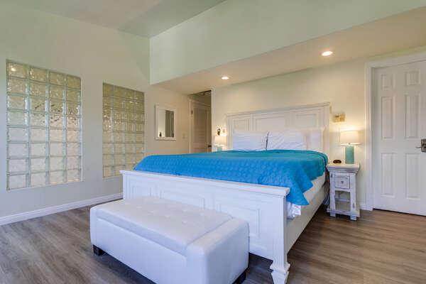 Master Bedroom - King Bed - Second Floor