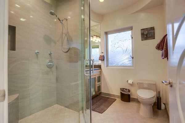 Bathroom with hallway access