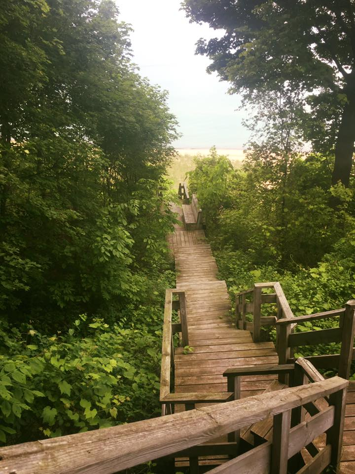 Stairway to Lake Michigan