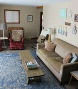 Living room facing Houghton Lake