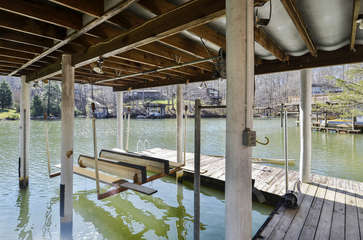large double bay dock with floater