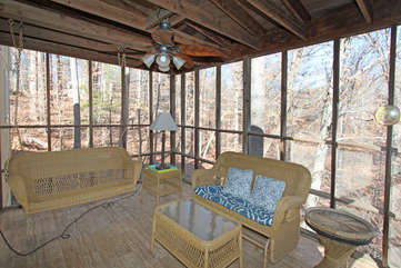Screened Porch off Dining Room