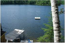 SUNSET HOUSE (Republic, MI) Secluded lakefront home with sauna, pet-friendly, 3 bedrooms, 1.5 bathrooms