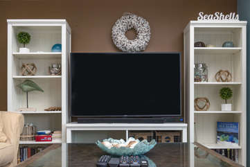Gather around the HDTV w/DVD to watch your favorite shows or movies.
