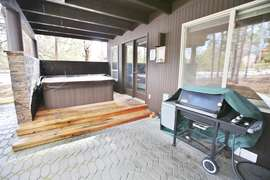 Hot Tub and BBQ (beautiful paver patio to the left)