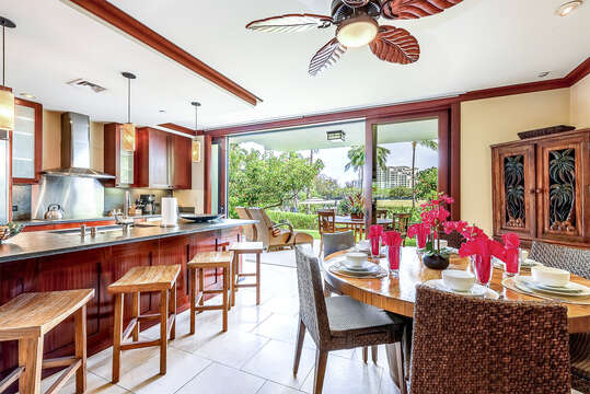 Spacious Kitchen that opens to a large lanai