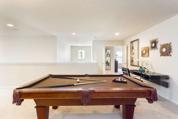 Get together for a game of pool in the loft