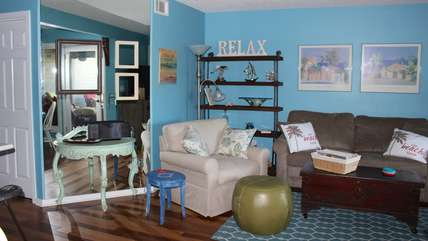 New owners have outfitted this bright home with fresh relaxing furnishings and many thoughtful amenities for guests. You'll find books, magazines, games, DVDs, stereo, and many more welcoming touches.