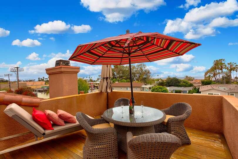 Rooftop deck with ocean views