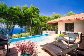 Sun deck and Pool overlooking the Caribbean