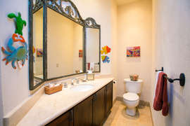 Guest Bathroom off the foyer