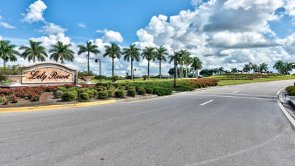 One of 3 Entrances to the Lely Resort; Scenic Golf and Nature Drive to the Condo!