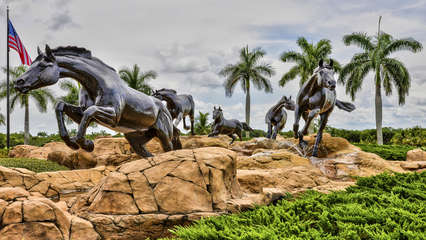 Entrance to the Lely Resort Where the Condo is Located; One of the Best Golf Communities in the USA; Mustang Statues are Well Know and Quite a Site!