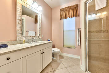 Master Bath with Walk in Shower! New Vanity Counter-top!